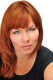 Portret van redheaded meisje Stock Foto