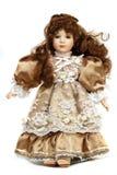 Portret van retro porseleinpop Royalty-vrije Stock Afbeeldingen
