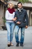 Portret van rijp paar in openlucht Royalty-vrije Stock Afbeelding
