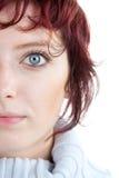 Portret van rode haired vrouw stock foto's