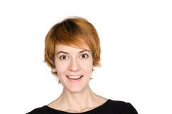 Portret van roodharig meisje stock fotografie