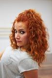 Portret van roodharigemeisje Royalty-vrije Stock Fotografie
