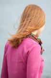 Portret van rug van een vrouw Royalty-vrije Stock Foto's