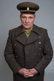 Portret van Russische militaire ambtenaar royalty-vrije stock afbeelding