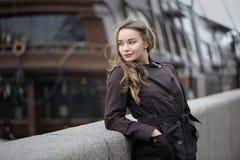 Portret van Russische vrouw Stock Foto's