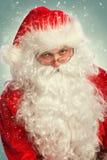 Portret van Santa Claus Stock Afbeelding