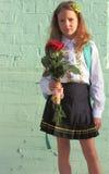 Portret van schoolmeisje Stock Foto's