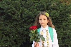 Portret van schoolmeisje Stock Afbeeldingen
