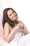Portret van schoon meisje met handdoek Royalty-vrije Stock Fotografie