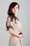 Portret van schoonheids jonge vrouw stock foto's