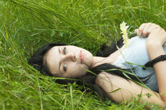 Portret van schoonheidsmeisje Stock Foto