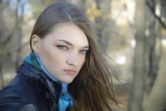 Portret van schoonheidsmeisje Stock Afbeelding