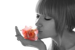 Portret van schoonheidsmeisje. Stock Foto