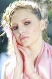 Portret van schoonheidsmeisje Royalty-vrije Stock Afbeeldingen