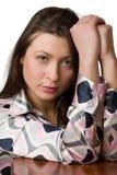 Portret van schoonheidsmeisje. royalty-vrije stock foto