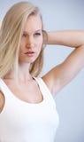 Portret van sensueel blondewijfje royalty-vrije stock foto