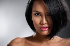 Portret van sensuele Aziatische vrouw royalty-vrije stock fotografie