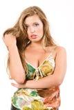 Portret van sensuele jonge vrouw stock fotografie