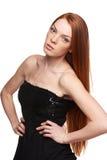 Portret van sensuele redheaded vrouw Stock Afbeeldingen