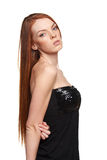 Portret van sensuele redheaded vrouw Royalty-vrije Stock Afbeelding