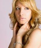 Portret van sensuele vrouw Stock Afbeelding