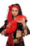 Portret van sensuele zigeunervrouw Royalty-vrije Stock Afbeeldingen