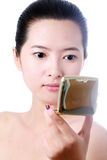 Portret van sexy Aziatische jonge vrouw Royalty-vrije Stock Foto's