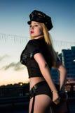 Portret van sexy blond meisje stock fotografie