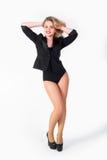 Portret van sexy blondevrouw Stock Fotografie
