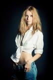 Portret van sexy jonge vrouw Stock Fotografie