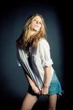 Portret van sexy jonge vrouw Royalty-vrije Stock Foto