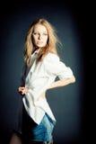 Portret van sexy jonge vrouw Royalty-vrije Stock Foto's