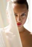 Portret van sexy Kaukasische jonge vrouw Stock Foto's