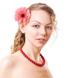 Portret van sexy Kaukasische jonge vrouw Royalty-vrije Stock Foto