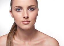 Portret van sexy Kaukasische vrouw Stock Afbeeldingen