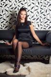Portret van sexy vrouw Stock Fotografie