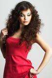 Portret van sexy vrouw met mooie samenstelling Stock Foto