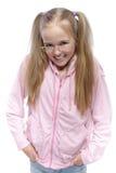 Portret van sluwheid die weinig glimlacht Stock Afbeelding