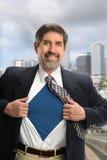 Portret van Spaanse Super Zakenman stock foto