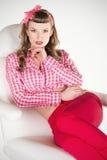 Portret van speld-Omhooggaand Meisje Stock Fotografie