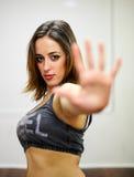 Portret van sportenmeisje Stock Afbeeldingen
