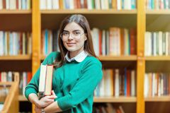 Portret van studentenmeisje royalty-vrije stock foto's