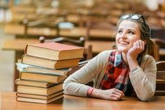 Portret van studentenmeisje royalty-vrije stock afbeeldingen