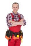 Portret van technicusarbeider Stock Foto's