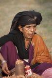 Portret van Tharu-vrouw, Nepal Stock Afbeeldingen