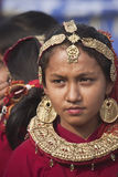 Portret van Tharu-vrouw, Nepal Stock Foto's