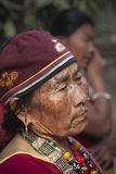 Portret van Tharu-vrouw, Nepal Royalty-vrije Stock Foto's