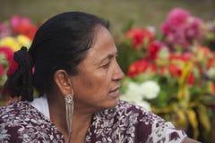 Portret van Tharu-vrouw, Nepal Stock Foto