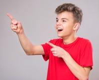 Portret van tienerjongen Stock Foto's