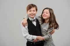 Portret van twee beste vrienden royalty-vrije stock foto